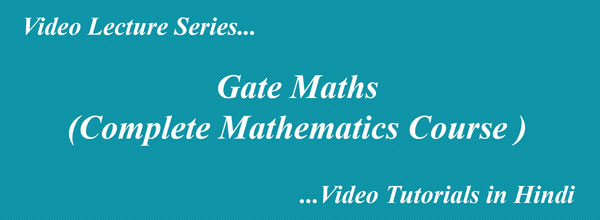 Gate Maths Tutorials  Gate Mathematics in Hindi with Examples